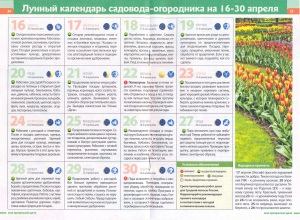lunniy kalendar dachnika april 2016